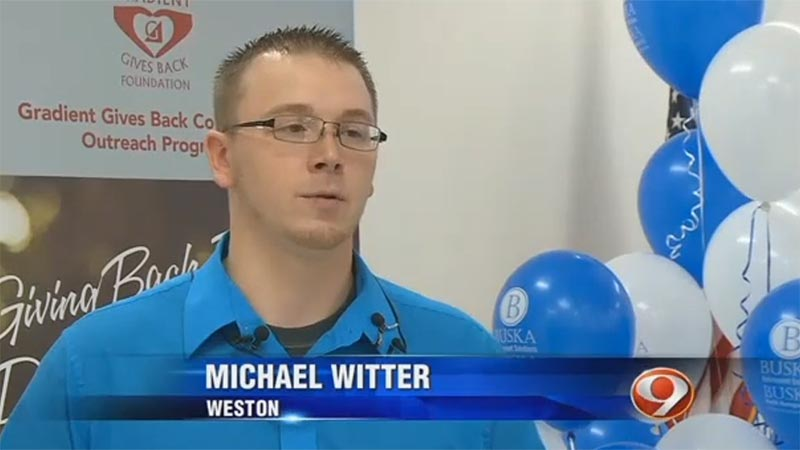 Wausau WI Buska Gives Back Mike Witter Family